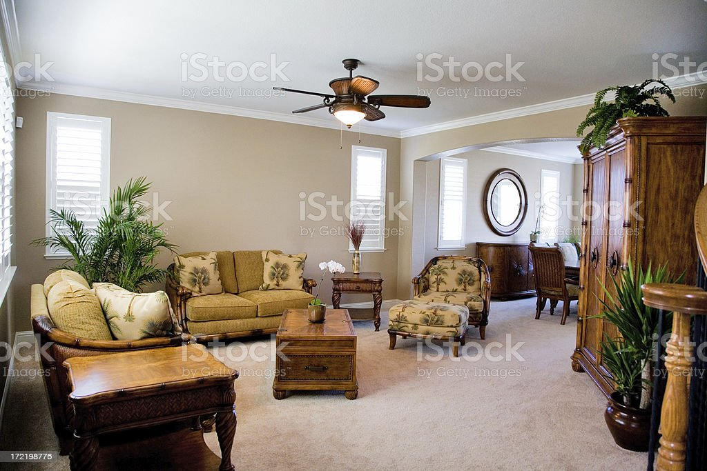 Tropical Living Room royalty-free stock photo