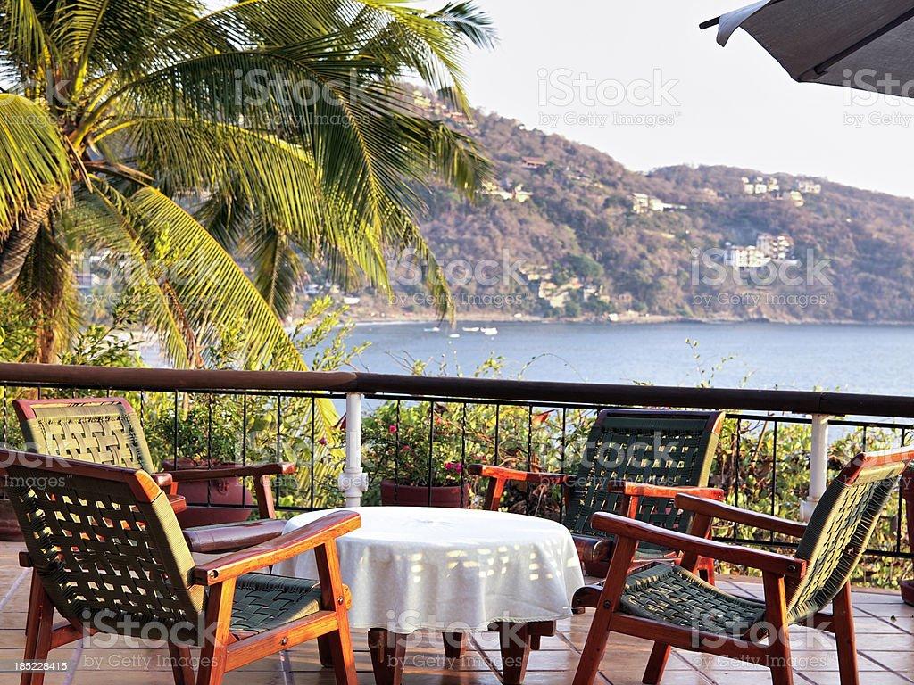 Tropical Lounge Setting stock photo
