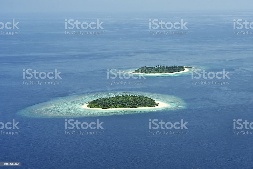 Tropical Maldivian island in Indian ocean royalty-free stock photo
