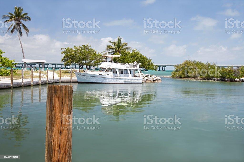 Tropical Marina stock photo