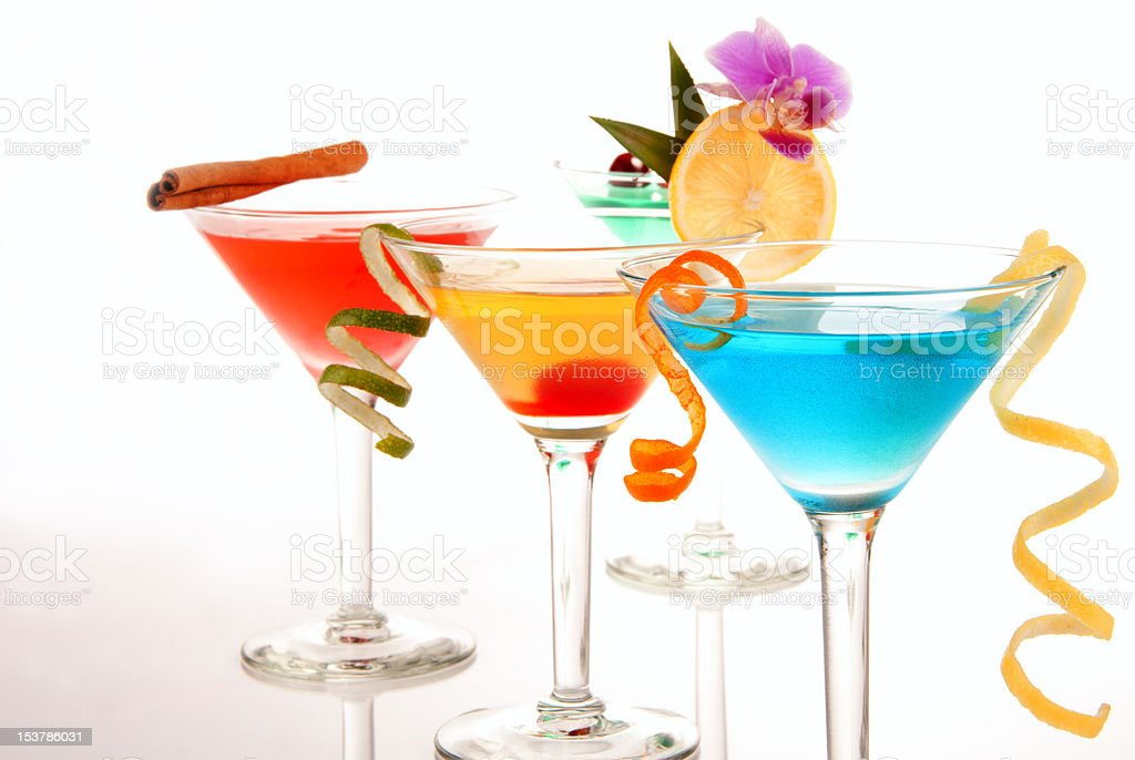 Tropical Martini cocktails stock photo