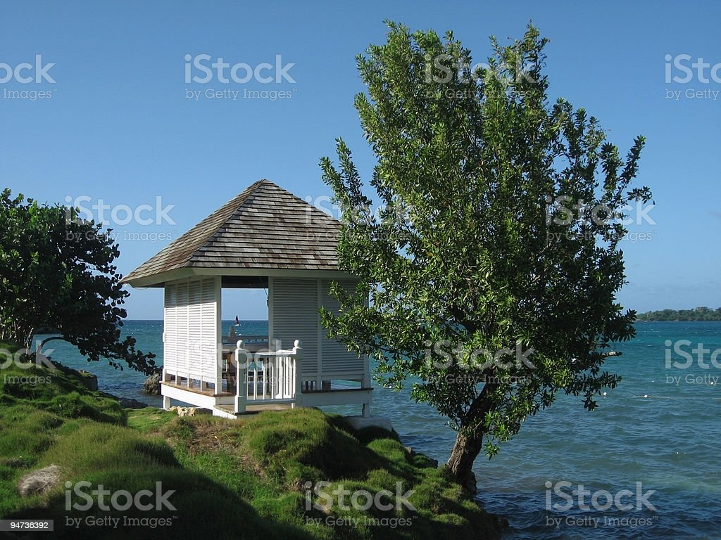 Tropical Massage Cabin royalty-free stock photo