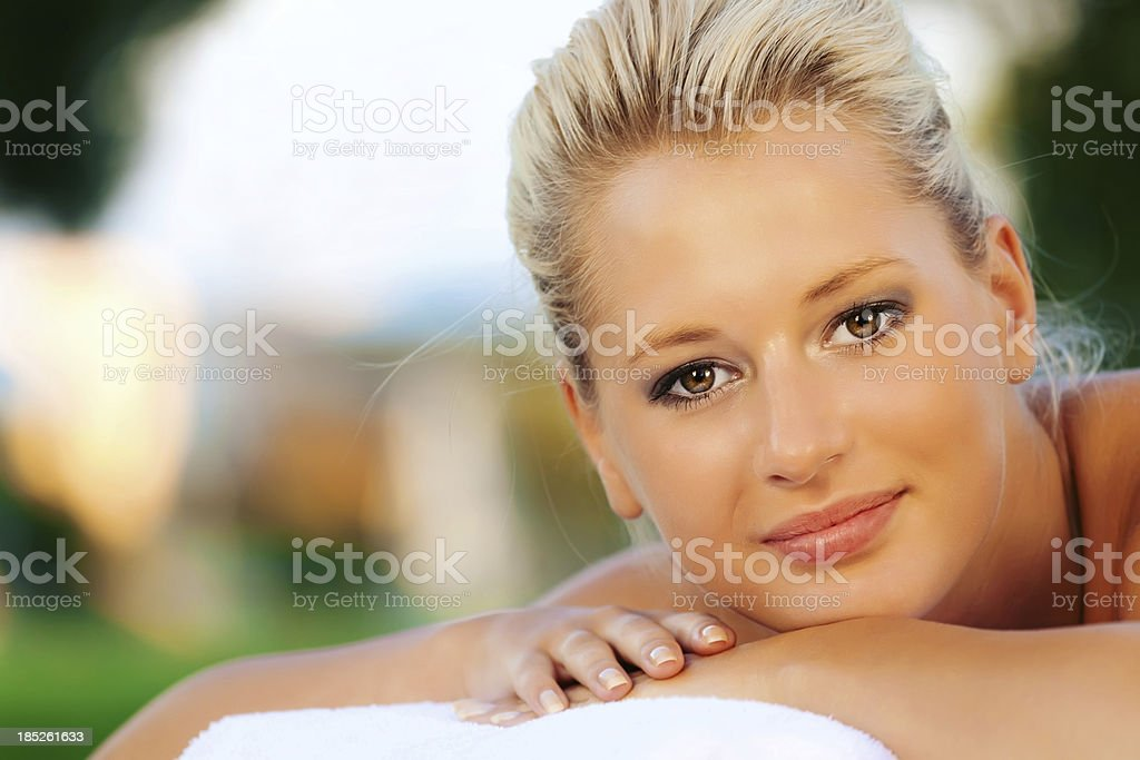 Tropical Massage royalty-free stock photo