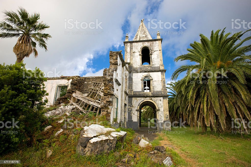 Tropical Missionary Church Ruin royalty-free stock photo