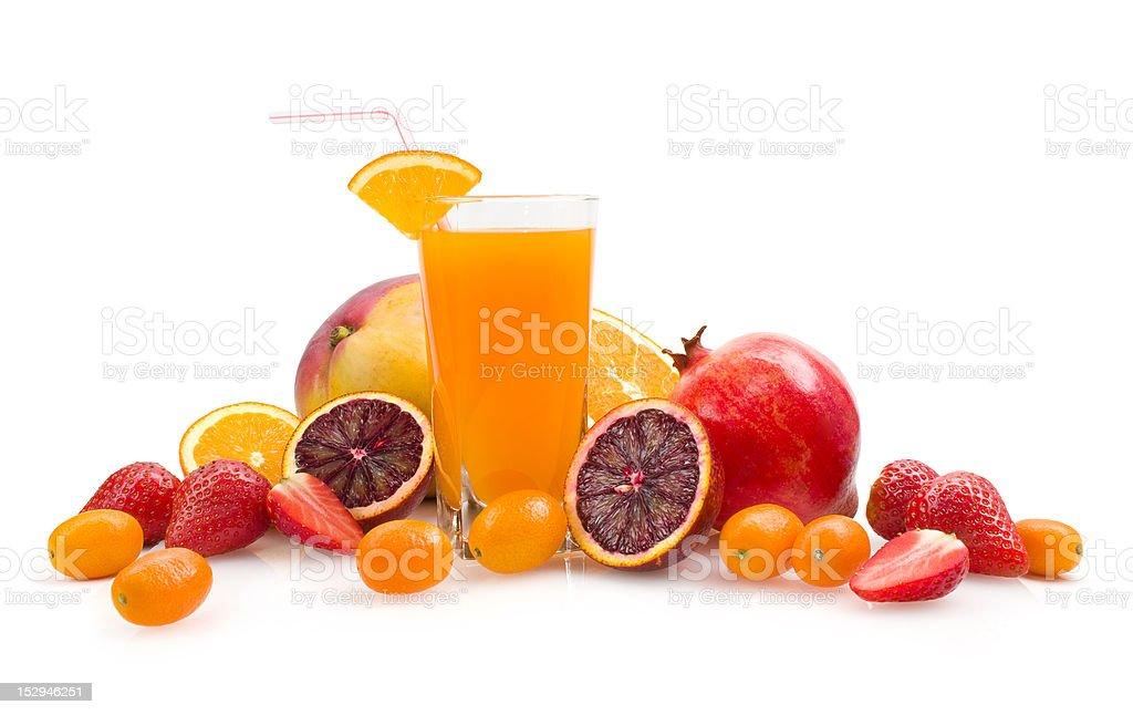 tropical multifruit juice royalty-free stock photo