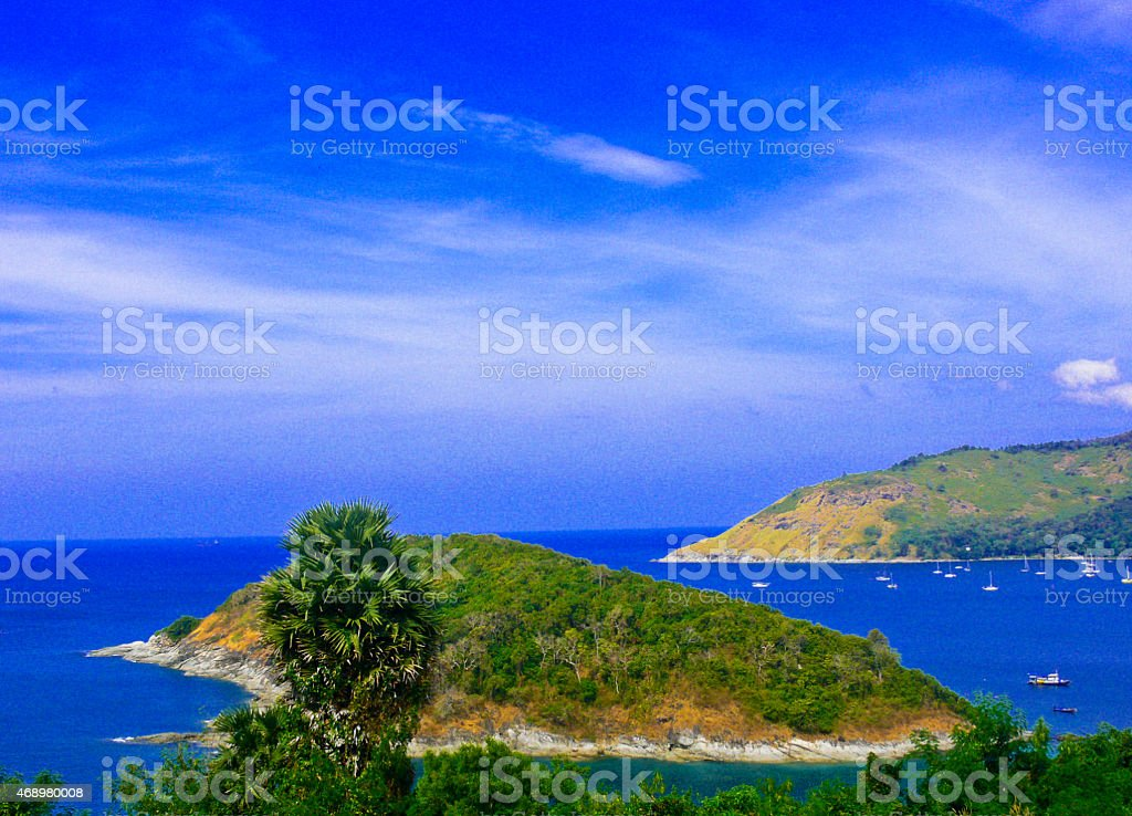 Tropical ocean landscape  at Koh Phuket island, Thailand stock photo