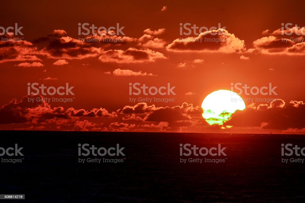 Tropical Ocean Sunset stock photo