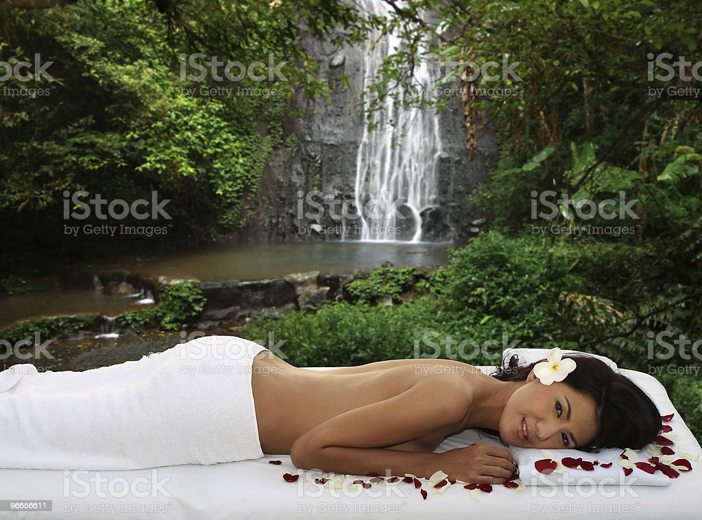 Tropical outdoor spa royalty-free stock photo