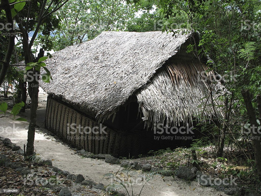 Tropical Pacific Island Hideaway stock photo