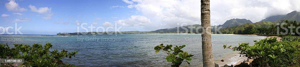 Tropical Panorama From Kuaui stock photo
