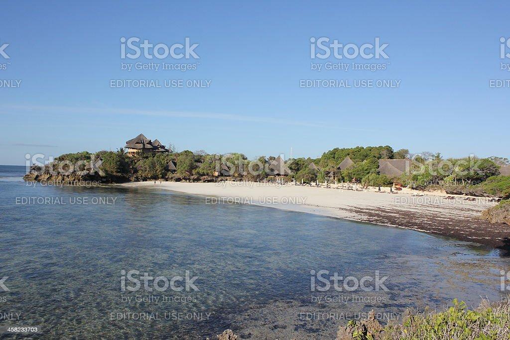 Tropical Paradise Beach in Kenya, East Africa royalty-free stock photo