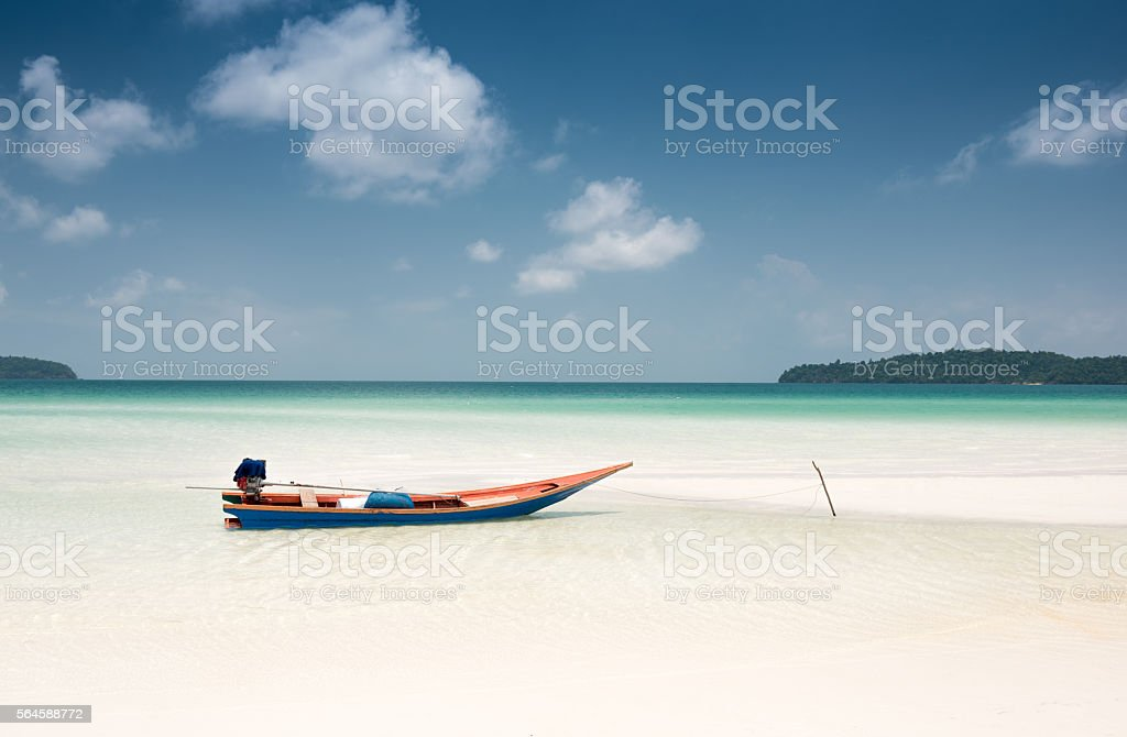 Tropical Paradise Beach, Koh Rong Sanloem, Sihanoukville Province, Cambodia stock photo