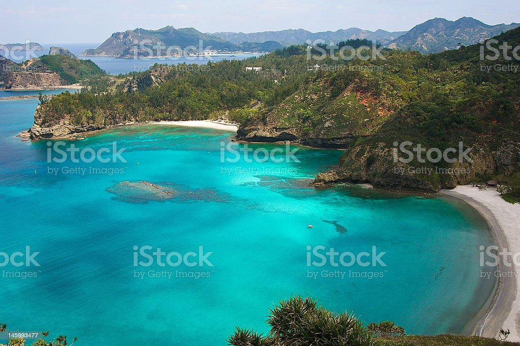 Tropical paradise beach, Ogasawara Islands, Japan royalty-free stock photo