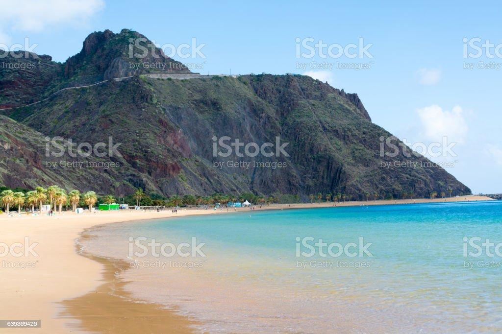 Tropical paradise - beach Teresitas, Tenerife, Canary Islands in stock photo