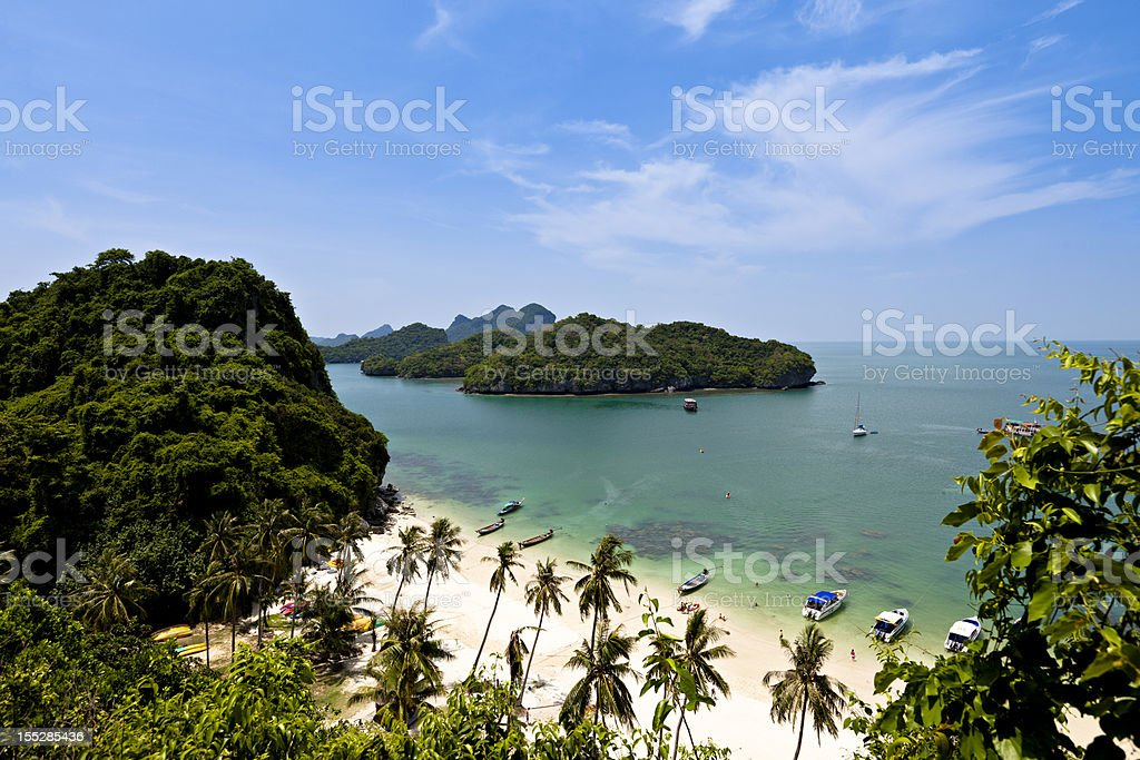 tropical paradise in thailand stock photo