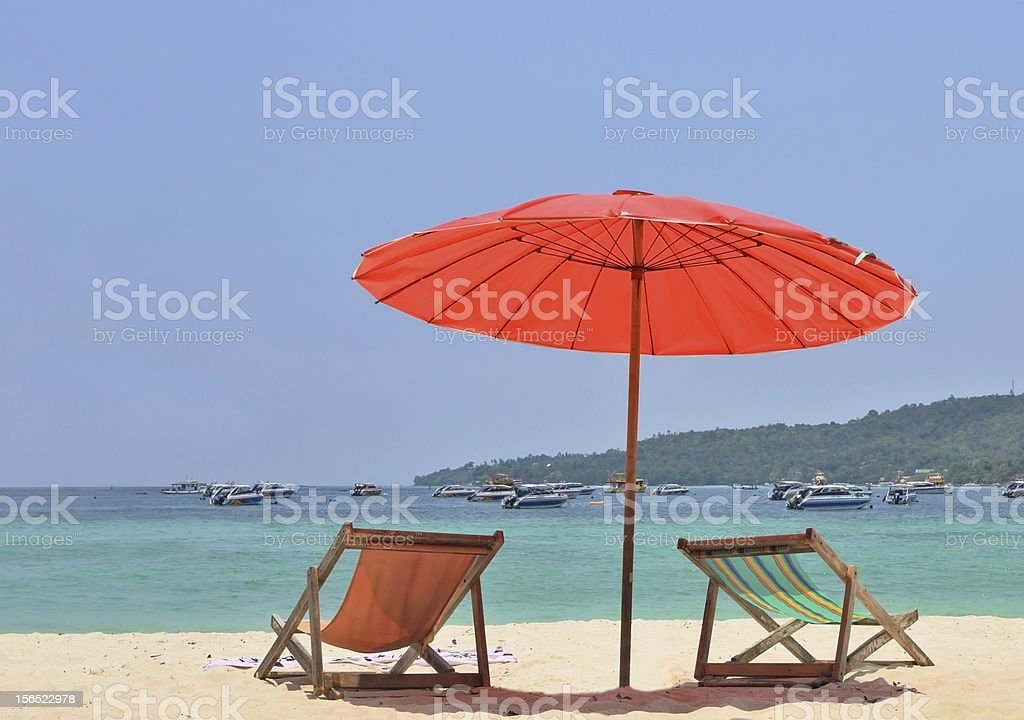 Tropical paradise on the shores royalty-free stock photo