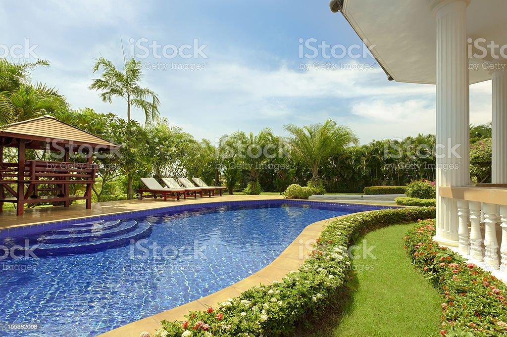 Tropical Paradise Villa royalty-free stock photo
