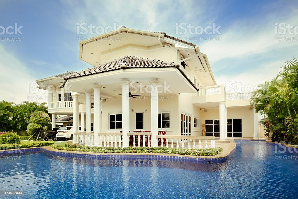 Tropical Paradise Villa stock photo