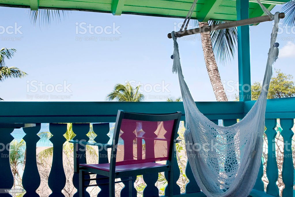 Tropical Patio royalty-free stock photo