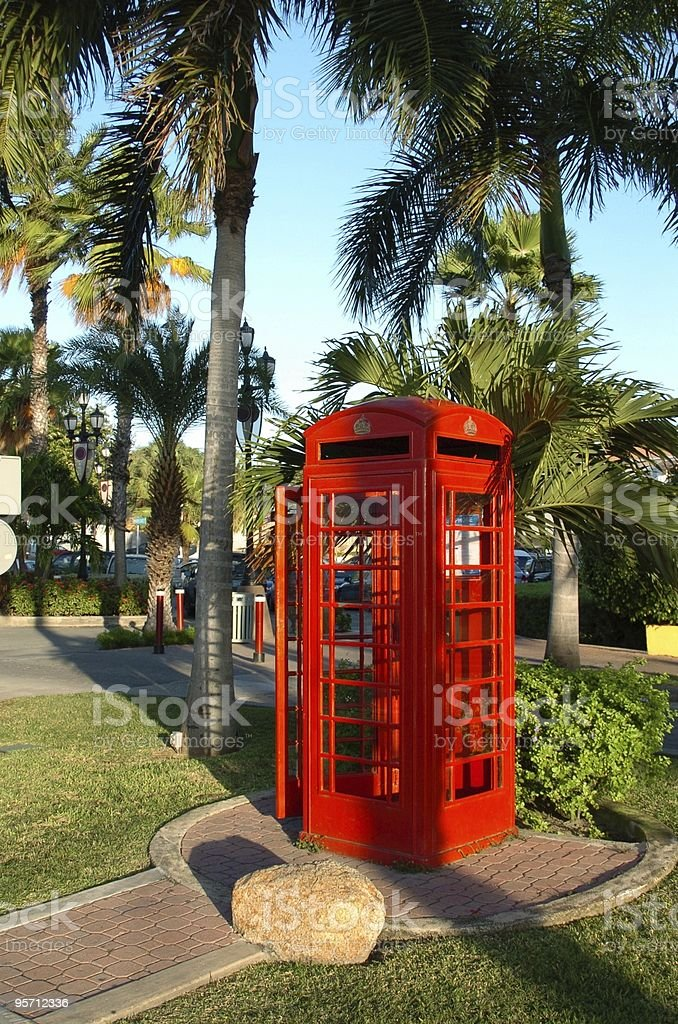 Tropical Phone Booth 2 royalty-free stock photo