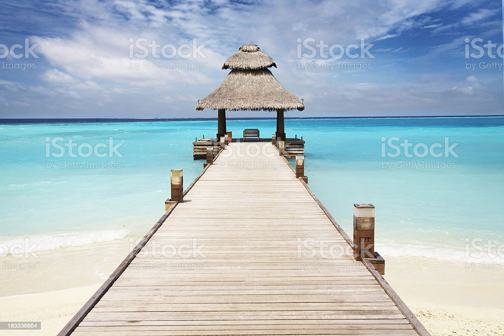 Tropical Pier royalty-free stock photo