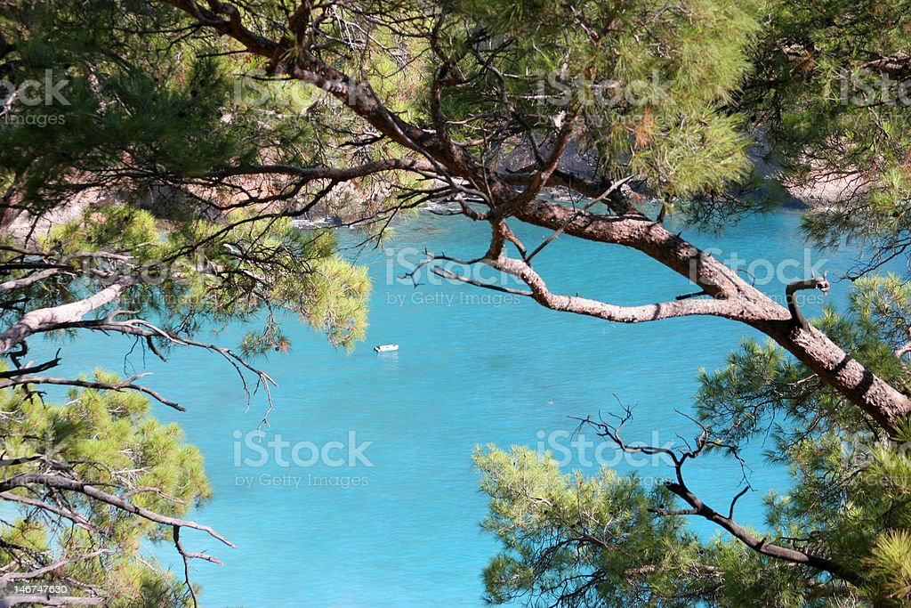 Tropical place in Turkey royalty-free stock photo