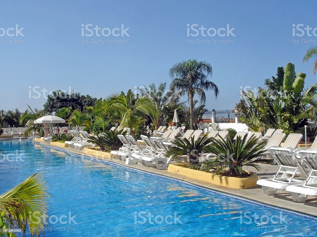 Tropical Pool royalty-free stock photo