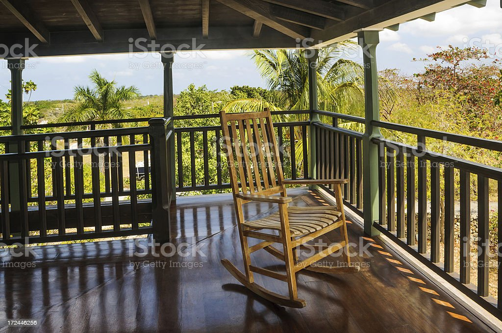 Tropical Porch Rocker royalty-free stock photo