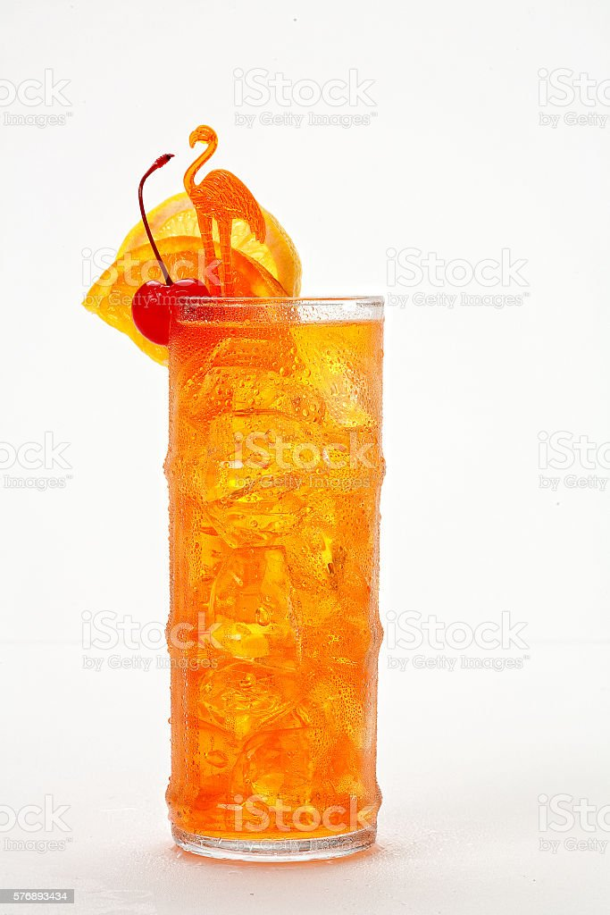 Tropical Punch Cocktail stock photo