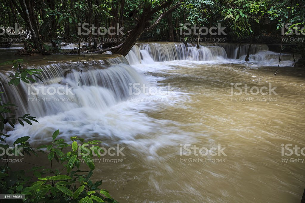 Tropical rain forest waterfalls royalty-free stock photo