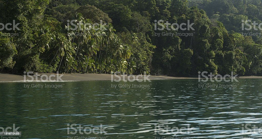 Tropical Rainforest and beach, Costa Rica royalty-free stock photo