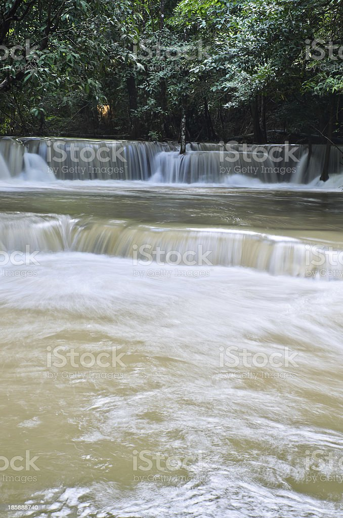 Tropical rainforest waterfall royalty-free stock photo