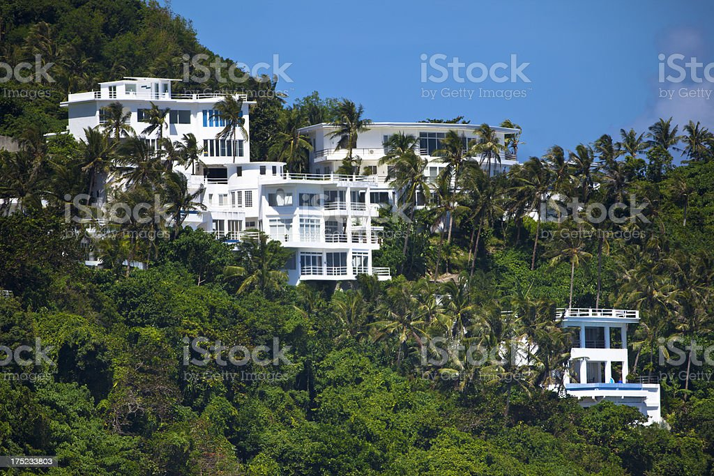 tropical real estate stock photo