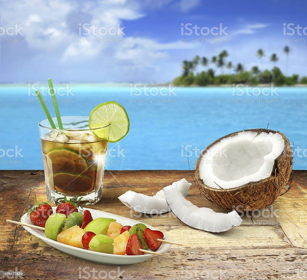 tropical refreshment stock photo