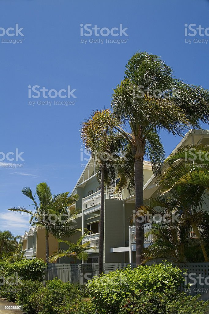 Tropical resort Apartments 2 stock photo