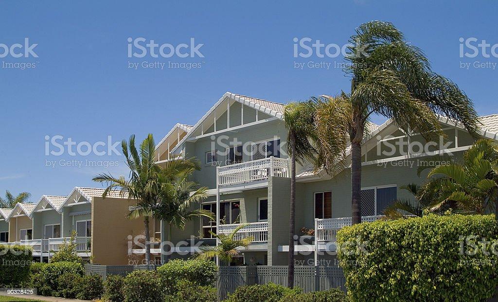 Tropical Resort Apartments stock photo