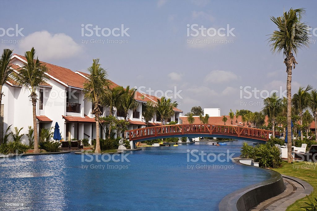 Tropical Resort in India royalty-free stock photo