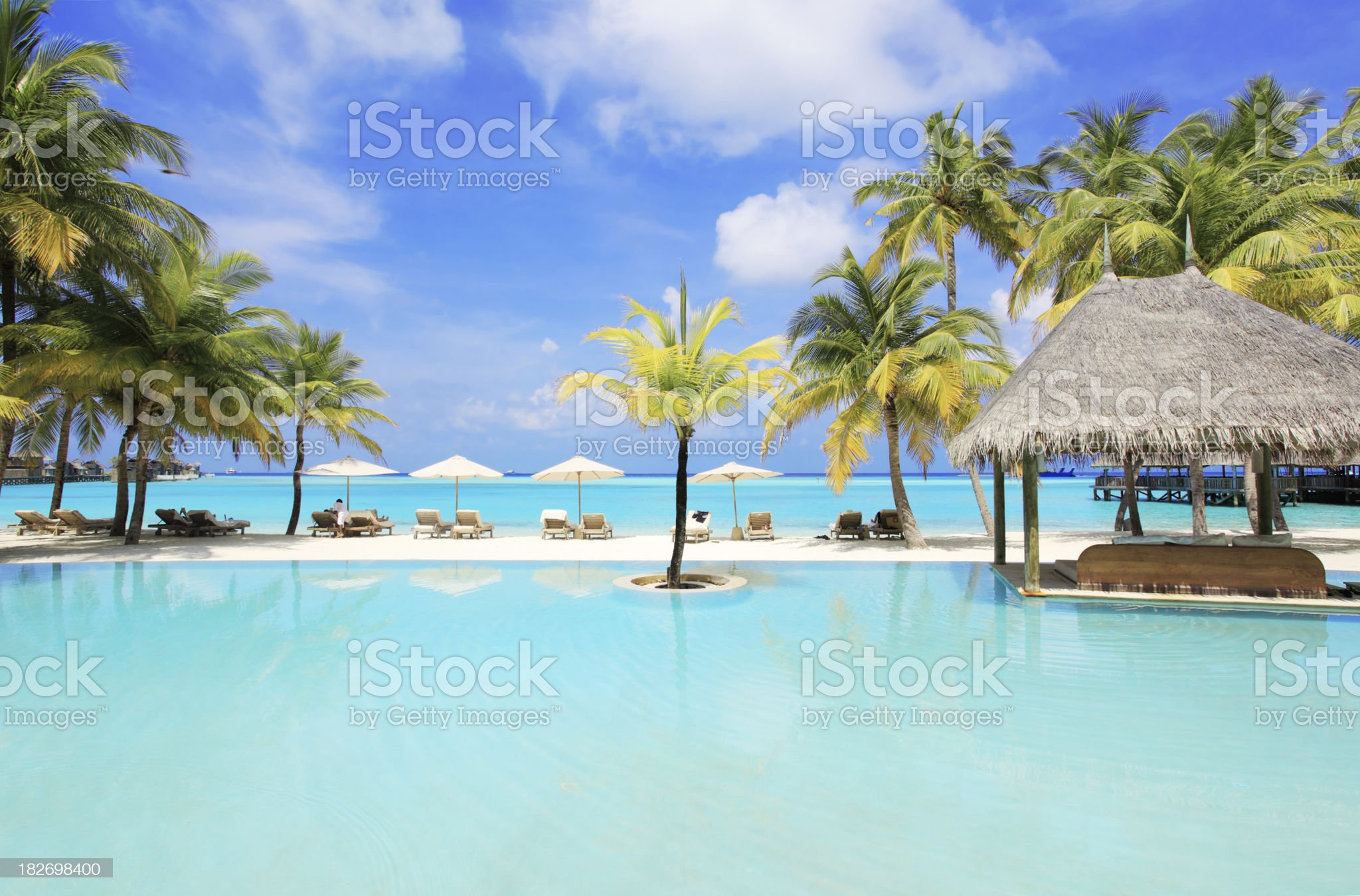 Tropical resort in Maldives. royalty-free stock photo