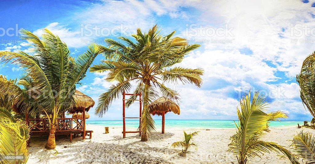 Tropical Resort. Mexico. Riviera Maya. stock photo