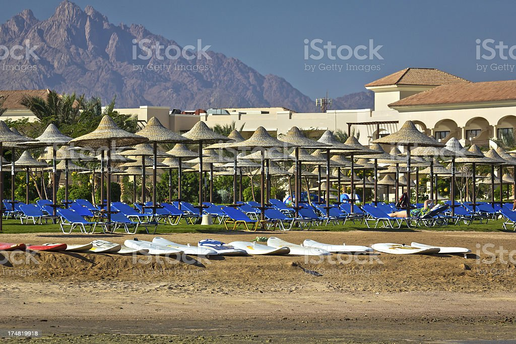 Tropical resort on the red sea royalty-free stock photo