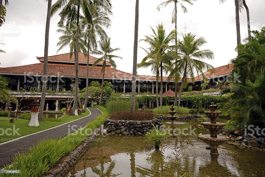 Tropical resort (Indonesia) royalty-free stock photo