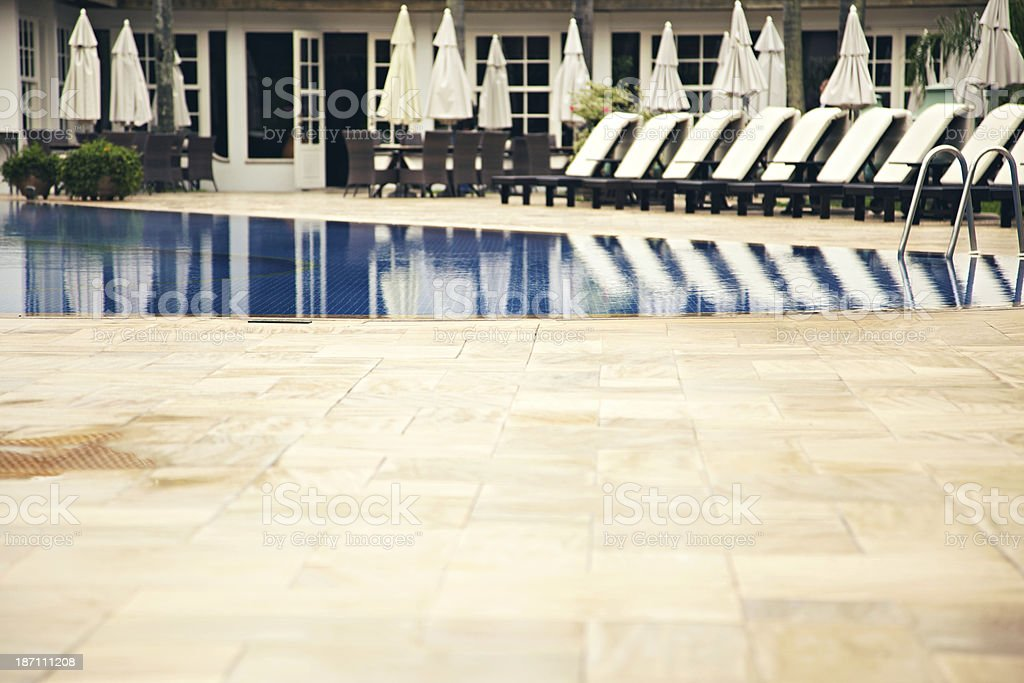 Tropical resort spa swimming pool royalty-free stock photo