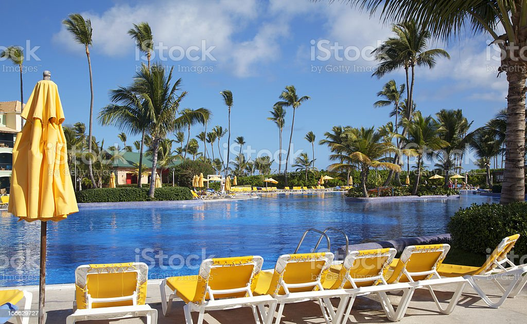 Tropical Resort Swimming Pool royalty-free stock photo