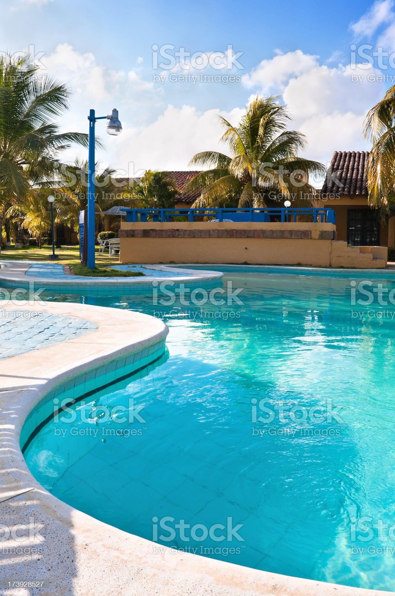 Tropical Resort Swimming Pool royalty-free stock photo