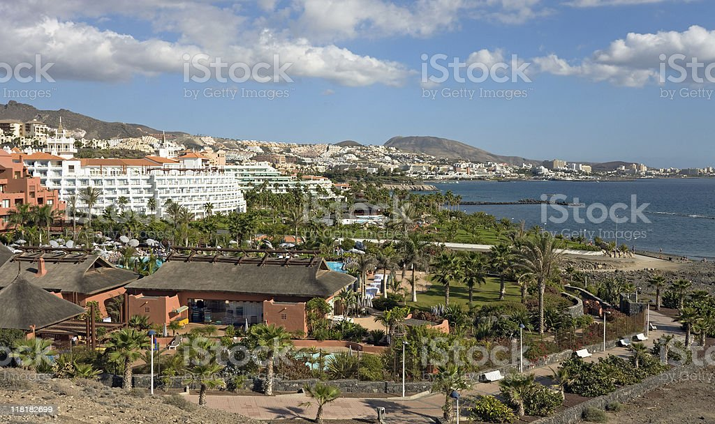 Tropical resort, Tenerife stock photo