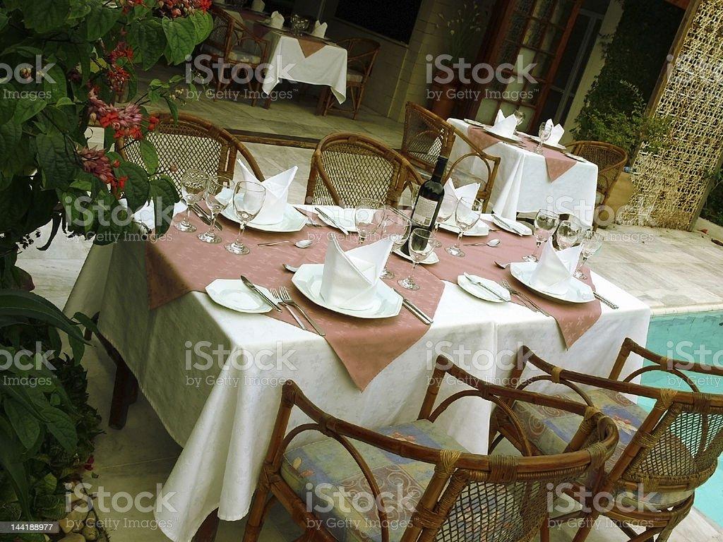 Tropical Restaurant royalty-free stock photo