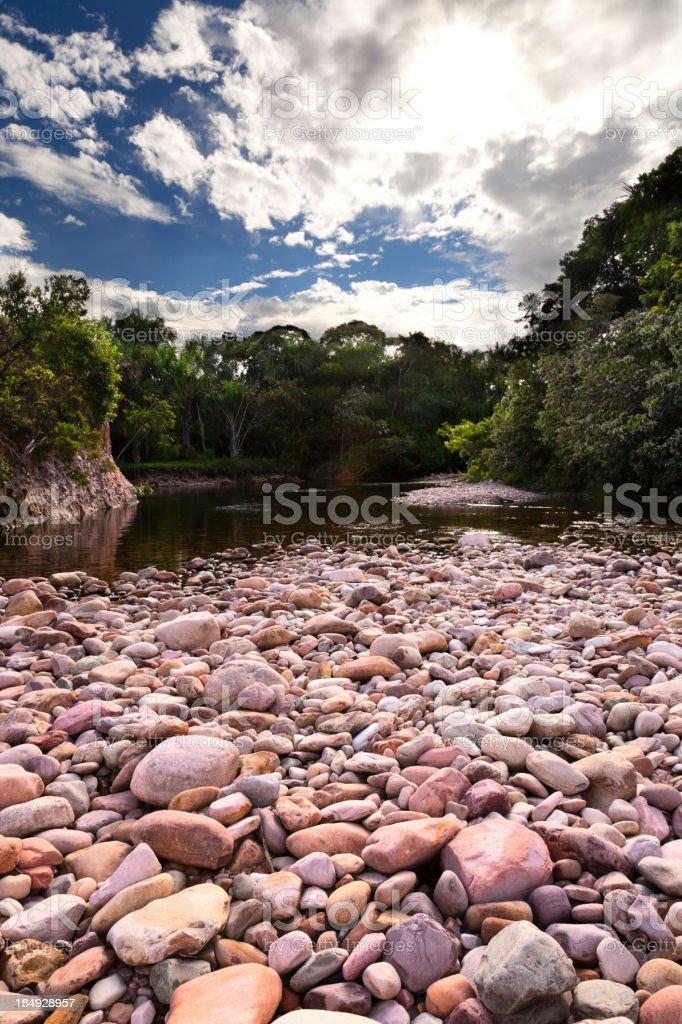 Tropical river at Uruyen Gran Sabana Venezuela royalty-free stock photo