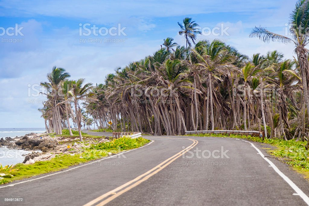 Tropical road stock photo