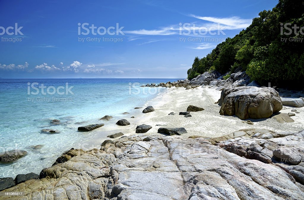 Tropical rock island stock photo
