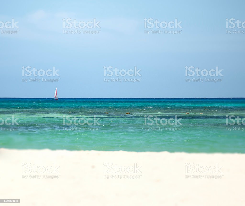 Tropical Sailing royalty-free stock photo